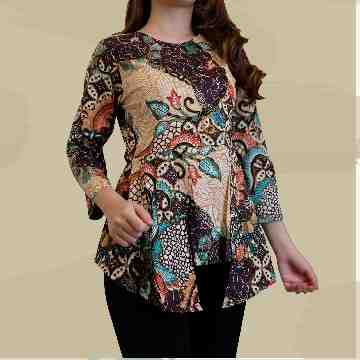 Fiya Batik Top - Brown