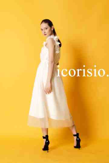 ESPOIR ONE SHOULDER DRESS- OFF WHITE image