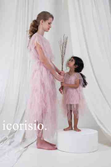 RUVEL LIGHT DRESS - SOFT PINK // LITTLE ICORISIO image