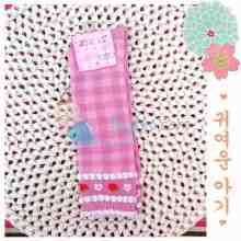 Mi Boll Baby Socks Plaid Strawberry