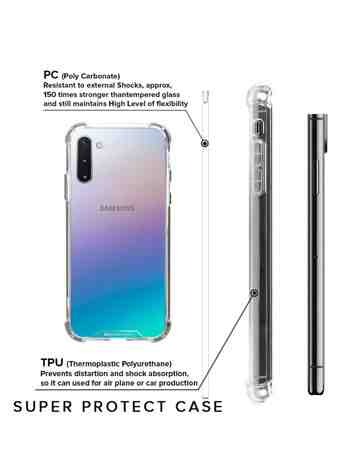 Goospery - Super Protect Case for Samsung Galaxy Note 10 - Clear