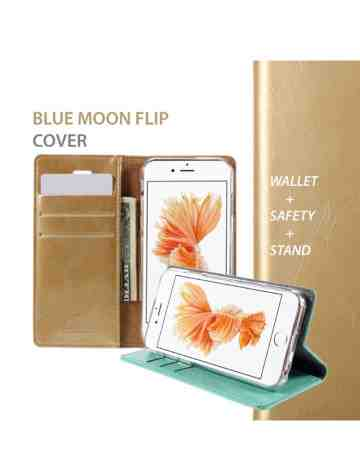 Goospery - Blue Moon Flip Case for iPhone X  - Black
