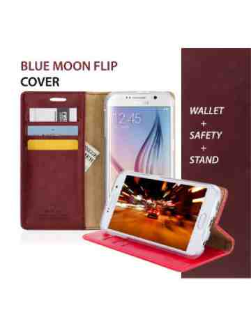 Goospery - Blue Moon Flip Case for Samsung Galaxy Note 10 - Hot Pink