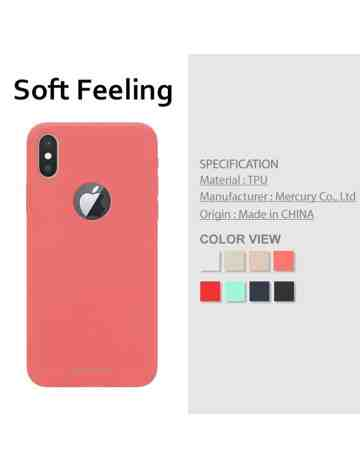 Goospery - Soft Feeling Jelly Case for iPhone X / iPhone XS hole - Mint