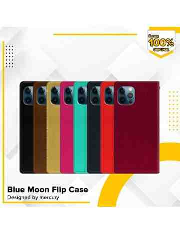 Goospery - Blue Moon Flip Case for iPhone 12 Pro Max 6.7 - Black