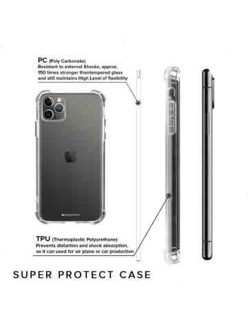 Goospery - Super Protect Case for iPhone 11 Pro Max 6.5 - Clear