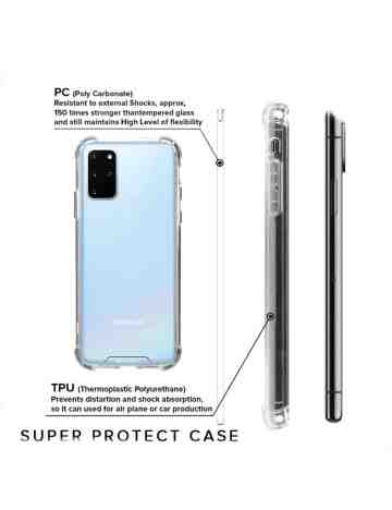 Goospery - Super Protect Case for Samsung S20 Plus G985 / G986 - Clear