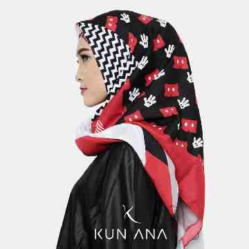 KERUDUNG VOAL MICKEY 05 BY KUN ANA