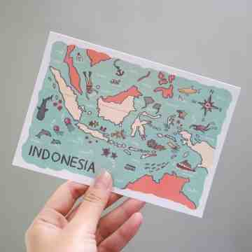 Indonesia Postcard image