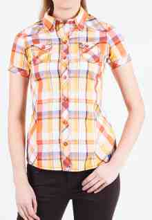Regular Fit - Ladies Shirt - Yellow - Short Sleeve