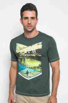 Slim Fit - Kaos Casual Active - Calm Wild Nature - Hijau