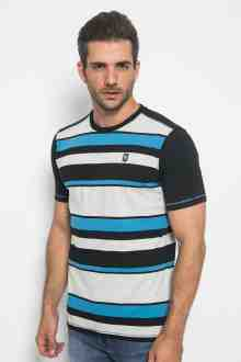 Slim Fit - Kaos Motif Garis - variasi Warna