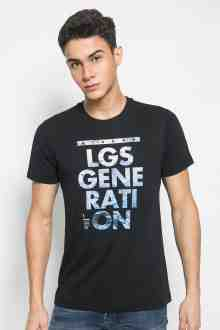 Slim Fit - Kaos Youth Boy - Motif Sablon LGS GENERATION - Hitam