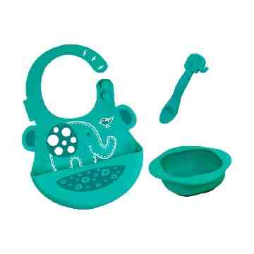 MARCUS MARCUS Baby Feeding Set Green Elephant