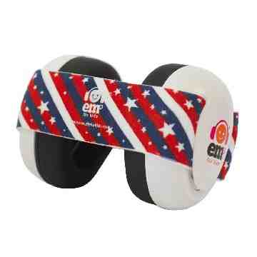 EMS White Earmuff 4Bubs - Star Stripes