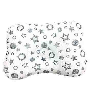 COMFI Newborn Pillow Black White Stars