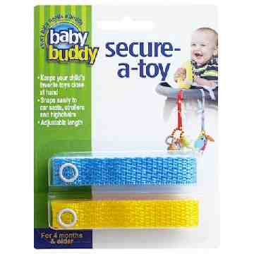 Toy Strap - Blue/Yellow