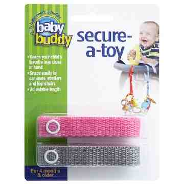 Toy Strap - Pink/Grey