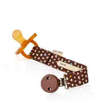 HEVEA Pacifier Holder - Brown