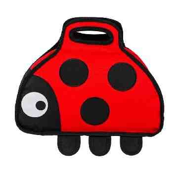 TUMTUM Insulated Childrens Lunch Bag Ladybird
