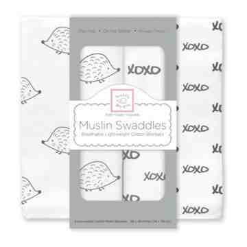 Swaddle Designs Muslin Swaddle Hedgehog XOXO (Isi 2)