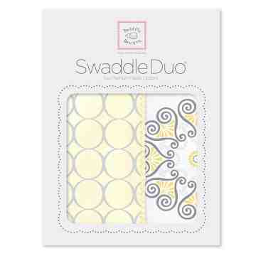 Swaddle Designs Swaddle Duo Blanket Mod Medallion Yellow (Isi 2)