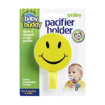 Smiley Pacifier Holder - Yellow