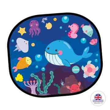 BUBBLE Cling Sunshade 2 Pack - Under The Sea
