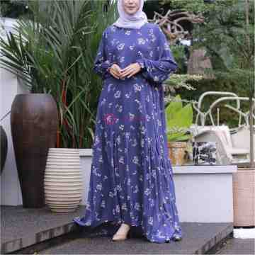 Aisyah Home Dress Colorfull Akasia Denim