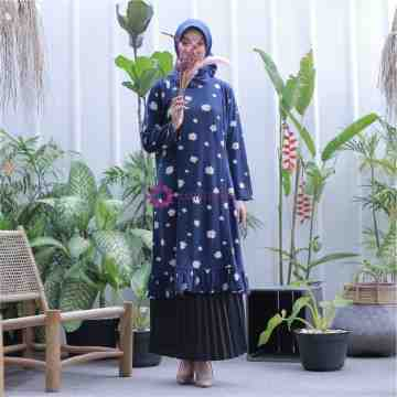 Afza Tunik Mid Daisy Denim