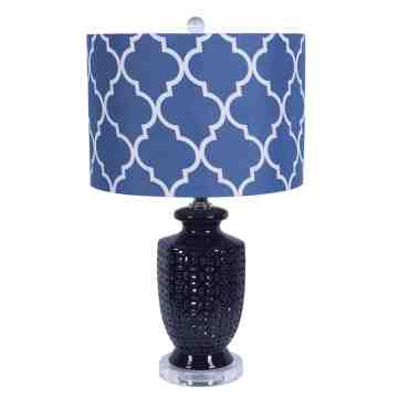 Navy Blue Ceramic Table Lamp