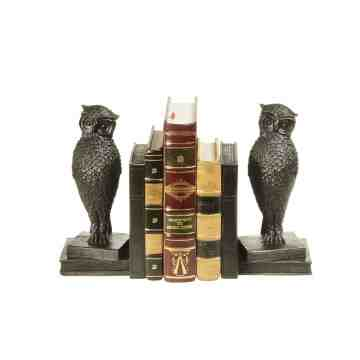 Lumikasa Bookends Resin Bronze Owl