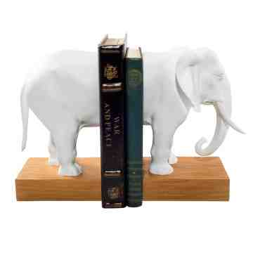 Lumikasa Resin Elephant Bookends, Set of 2