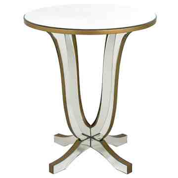 Sofia Mirrored Round Side Table