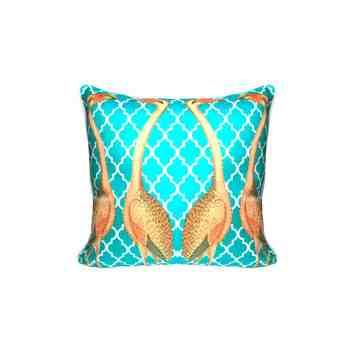 Lumikasa Orn Cushion Cover Flamant Emerald
