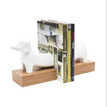 Lumikasa Bookends Resin White Dog