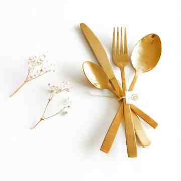 Harriet & Co Set of 4 Gold Cutlery