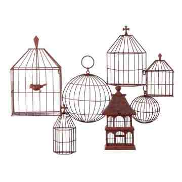 Lumikasa Metal Birdcage Wall Décor