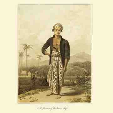 East Indies Art A Javan of the Lower Class (Raffles)