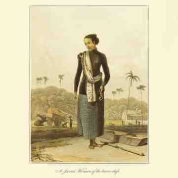 East Indies Art A Javan Woman of the lower class (Raffles)