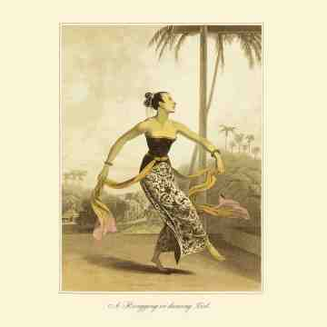 East Indies Art A Ronggeng or Dancing Girl (Raffles)