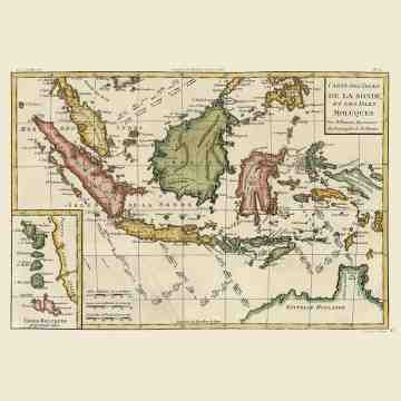 East Indies Art Carte Des Isles de La Sonde