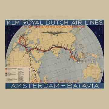 East Indies Art Poster KLM