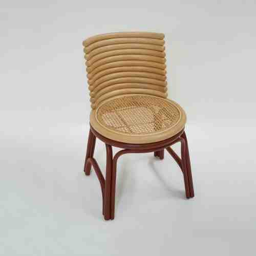 Super Rattan Kursi New Moon Red