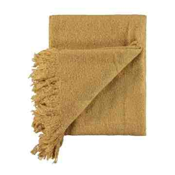 Harriet and Co Gold coloured Sofa Throw