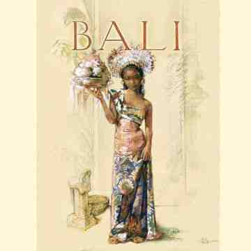 Old East Indies Thin Book Balinese Girl