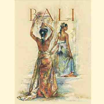 Old East Indies Thin Book Bali Hotel Poster