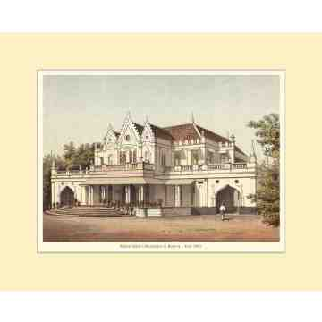 Old East Indies Raden Saleh's Residence in Batavia Cardboard Frame