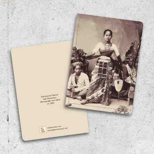 Old East Indies Thin Book Indonesian Dancer and Musicians 1880