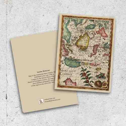 Old East Indies Thin Book Spice Islands Map